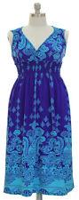 Womens Plus 1X,2X,3X Paisley Print Sleeveless Empire Waist Maxi Dress(4 Colors)