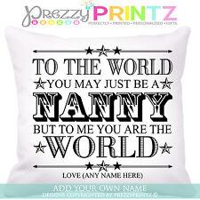 ❤PERSONALISED NANNY NANNA GRANDMOTHER GIFT CUSHION KEEPSAKE CHRISTMAS BIRTHDAY❤