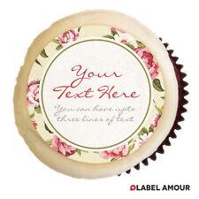PERSONALISED Hen Birthday Wedding Party Cupcake Edible Toppers Cake - Pemberton