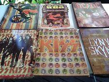 THE WHO,AC/DC,KISS,LENYRD SKINYRD FOLDERS