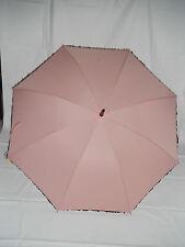Shelta Womens Long Umbrella - 1624 Lace Trim Fashion Spot Pastel Pink or White