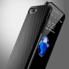 Slim De Luxe Mince étui TPU Antichoc Silicone fibre de carbone housse pour iPhone X