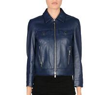 NWT £880 Designer MICHAEL KORS Plonge Genuine Lamb Leather Jacket IT42 US6 UK10