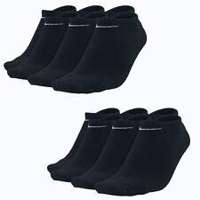6 Paar NIKE Sneaker Socken NoShow schwarz S M L XL (34-50) Füßlinge LowCut