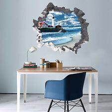 3D Faro Mare 013 Parete Murales Parete Adesivi Decal Sfondamento AJ WALLPAPER IT