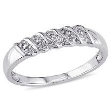 Amour Sterling Silver Diamond Illusion Ladies Wedding Band