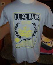 New Quiksilver light gray black yellow surf short sleeve t shirt medium or large