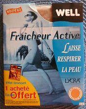 """Collants """"Fraîcheur Active"""" WELL Lycra très fin 12 den. Beige très clair T 1,2,3"""