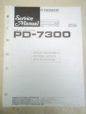 Pioneer Service Manual~PD-7300 CD Player~Original~Repair
