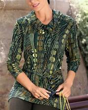 Blusa verde oliva-marrón talla 42, talla 44, talla 48 081121238 9