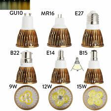 LED Spotlight Bulbs Lamp Dimmable GU10 MR16 E27 E14 GU5.3 B22 B15 110V 230V 12V