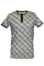 Para Hombre De Los 60 Indie Mod Grandad Cuello Manga Corta T Shirt Polo Top