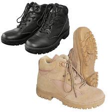 Outdoor Wander-Schuhe Halb-Stiefel Boots Schwarz Beige SEMI CUT Springerstiefel