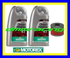 Kit Tagliando KAWASAKI KX-F 450 06>13 Filtro Olio MOTOREX Cross Power 10W/50 KXF