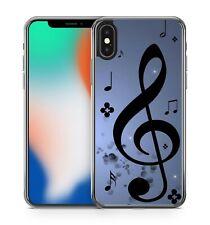 Music Notes Flowers Polka Dots Stars Amazing Fine Pattern Soft Gel Phone Case