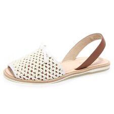 B2422 sandalo donna CAR SHOE scarpa stuoia rafia bianca shoe woman