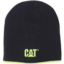 CAT Workwear Mens & Womens Reversible Warm Acrylic Logo Beanie Cap Hat