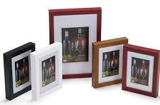 Holz Bilderrahmen HR-24 quadratisch 20x20 30x30 40x40 50x50 schwarz weiss eiche