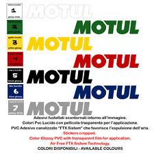 adesivo moto pvc prespaziato motul sticker motocycle sponsor helmet 2 pz. cm 20