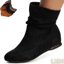 Damenschuhe Keilabsatz Stiefeletten Boots Booties Stiefel Hidden Wedges