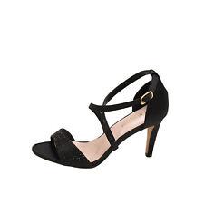 Blossom Hannah 12 Black Satin Women's Embellished Formal Heels