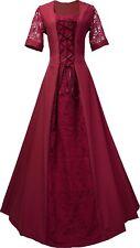 Mittelalter Karneval Larp Gewand Kleid Kostüm Robe Elsa Bordeaux XS-60