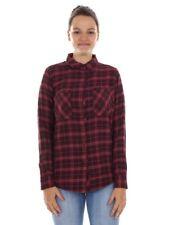 O'Neill Camisa de cuadros manga larga Rojo Moderno bolsillos en el pecho