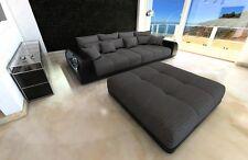 Bigsofa Stoffcouch MIAMI Design Sofa XXL mit LED Licht Bigsofa Mega Stoff Couch