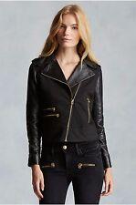 True Religion Brand Jeans Mix Media Women's Moto Jacket - NWT