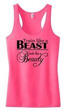 Train like a Beast look like a Beauty Tank Top Exercise Fitness Girl Shirt Sport