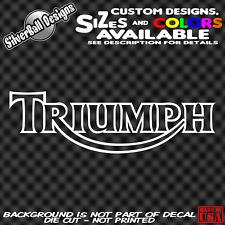 Triumph motorcycle Custom Vinyl Sticker Decal Car Truck MC Tank retro HD Bike