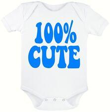 Lindo Bebé Blanco 100% crecen, novedad Traje de bebé, tamaños de 0 a 12 meses