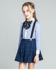 4 PC Set High Quality Children's Girls' Formal Uniform Skirt Suspender Dress ZG9