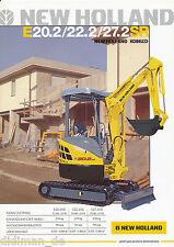 New Holland E22.2SR E22.2SR E27.2SR  Bagger Prospekt 2 05 brochure 2005 digger