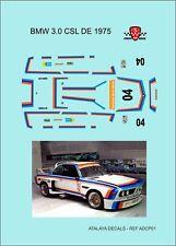 CALCAS BMW 3.0CLS 1975  DECALS