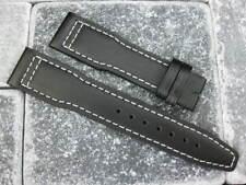New 20mm Top Grade CALF LEATHER STRAP Watch Band IWC TOP GUN PILOT Black 20 x1