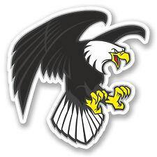 2 x Angry Eagle Vinyl Sticker iPad Laptop Car Bike Bird USA German Gift #4710