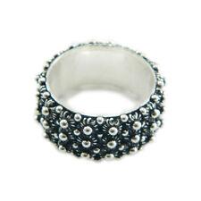 Fede sarda anello Sardegna filigrana fascia 3 file giri argento brunito 925