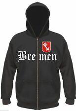 BREMEN Kapuzenjacke - M bis XXL - Schwarz - hoodie sweatshirt jacke ultras fans
