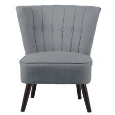 Linen Fabric Velvet Accent Chair Upholstered Lounge Chair Retro Home Restaurants