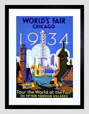 86768 EXHIBITION WORLD FAIR CHICAGO 1934 CULTURAL Decor WALL PRINT POSTER CA