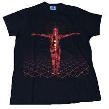 Seconds Rare Unworn The Black Eyed Neon Man Hip Hop Ribbon LA USA T-Shirt G.S