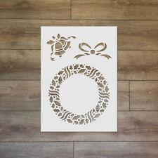 Christmas wreath - Christmas / Winter Reusable Plastic Stencil