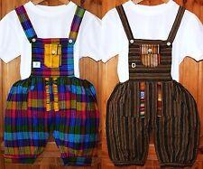 Kinder Baumwoll Hose, Gr. 92/98, grün braun bunt, Hippie Ethno Stil Ecuador