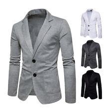 Fashion Men's V-nect Formal Casual Suit Coat Dress Slim Fit Blazer Jacket H