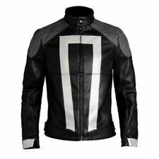 Ghost Rider homme en cuir noir veste Agents of SHIELD saison 4 Robbie Reyes