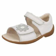 CLARKS filles DOUCEMENT Eve FST blanc COMBI Sandales en cuir