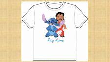 Personalizado Niños Disney Lilo and Stitch T SHIRT TAMAÑOS 3 - 14 Chicos Chicas