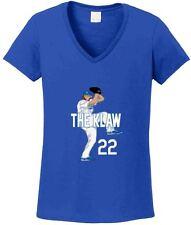 "V-NECK Ladies Clayton Kershaw Los Angeles Dodgers ""KLAW"" jersey shirt Ladies"