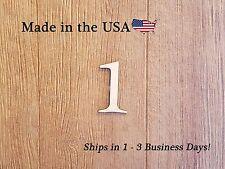 Simple Wood Number, Address Numbers, Simple Number, Room Numbers, LF#1001